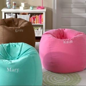 PB Teen Bright Pink Washed BeanBag Cover